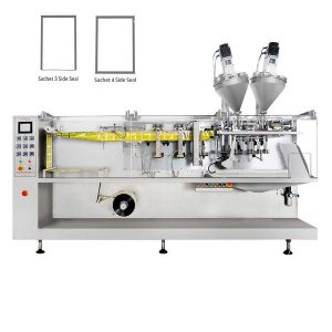 30 g miltelių dėžutės horizontalios formos užpildo ir antspaudų pakavimo mašina