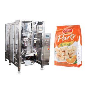 Pilnas automatinis maisto keturgalvio dangtelio pakavimo mašina