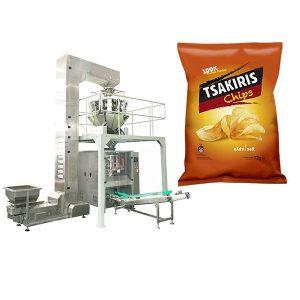 Bulvių traškučių pakavimo mašina