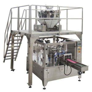 Rotacinė automatinė užtrauktuko maišelis Užpildo sandarinimo pakavimo mašina Sėklų riešutai
